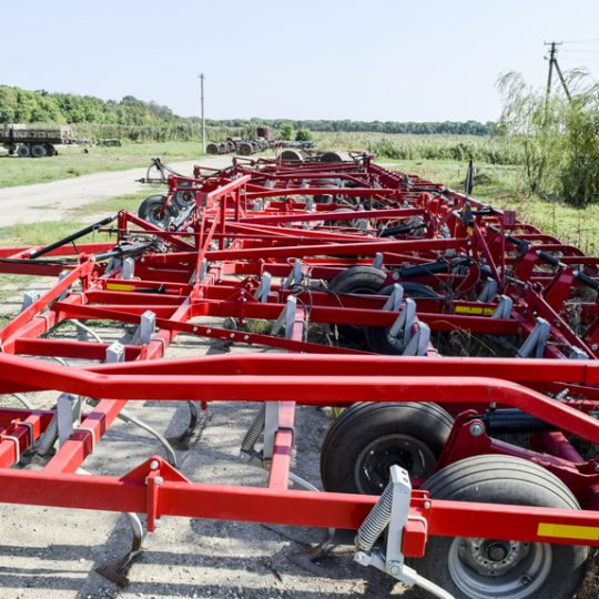 Soil disintegrator, deep loosener on the trailer. Trailer Hitch for tractors and combines. Trailers for agricultural machinery.